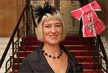 Michelle McDowell receives MBE at Buckingham Palace