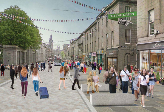 Plans approved for Aberdeen City Centre regeneration