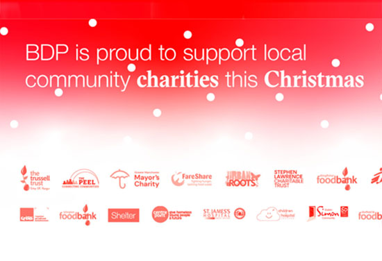 BDP is proud to support local community charities this Christmas