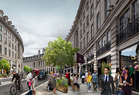 Regent Street plans unveiled to deliver a greener, cleaner and safer West End