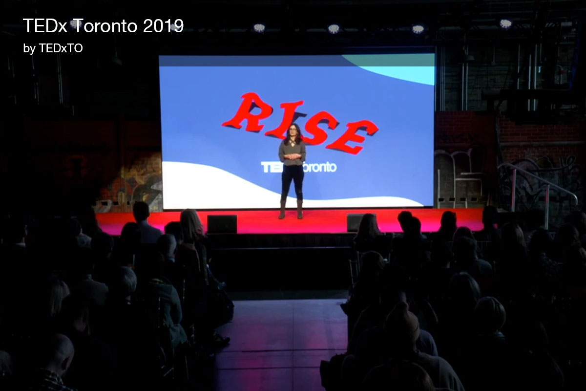Director of Innovation Michelle Xuereb speaks at TEDxToronto