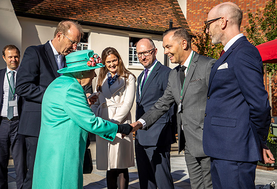 The Queen tours The Lexicon