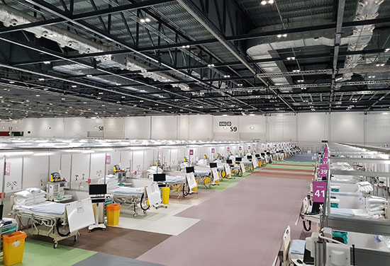 ExCeL Exhibition Centre repurposed into NHS Nightingale Hospital