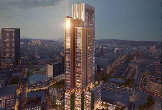 Plans revealed for 37 Storey Sheffield Tower