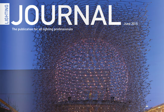 Milan on the cover of Lighting Journal