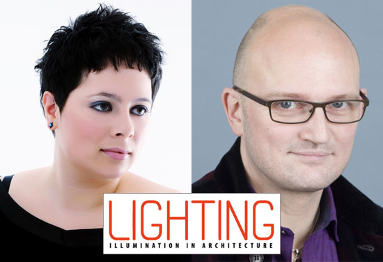 Blue Shift - Lora Kaleva and Colin Ball in the Lighting Magazine